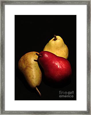 3 Of A Pear Framed Print by David Taylor