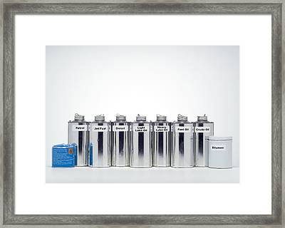 Oil Products Framed Print by Paul Rapson
