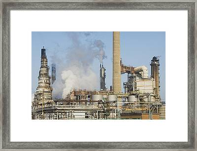 Oil Refinery Buildings At Grangemouth Framed Print by Iain  Sarjeant