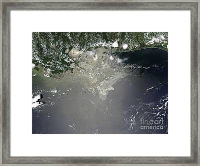 Oil Slick In The Gulf Of Mexico Framed Print