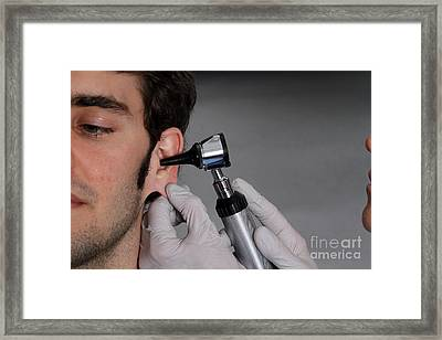 Otoscope Framed Print by Photo Researchers, Inc.