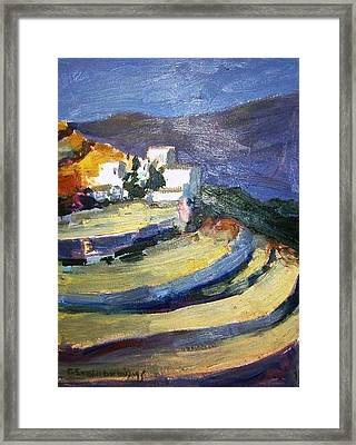 Paros Lefkes Framed Print by George Siaba