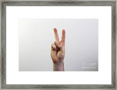 Peace Sign Framed Print by Photo Researchers, Inc.