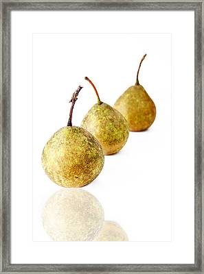 3 Pears Framed Print by Darren Fisher