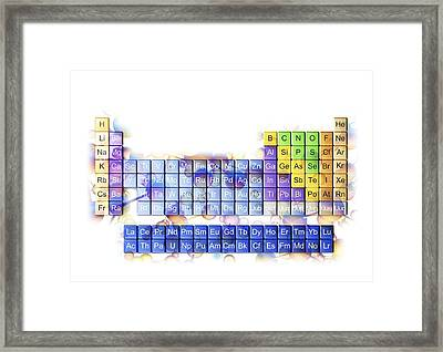 Periodic Table Framed Print by Pasieka