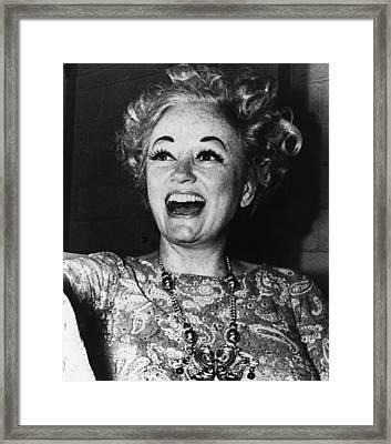Phyllis Diller (1917- ) Framed Print
