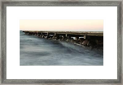 Pier Framed Print by Falko Follert