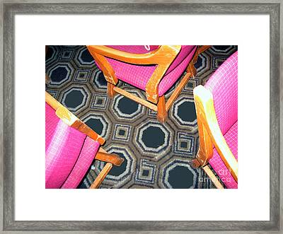 3 Pink Chairs                  Framed Print by Bill Thomson