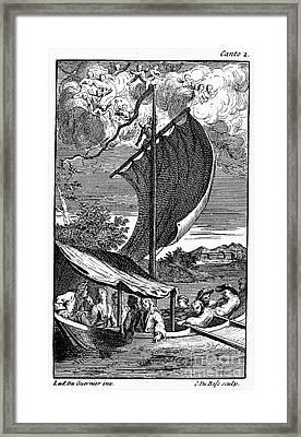 Pope: Rape Of The Lock Framed Print by Granger