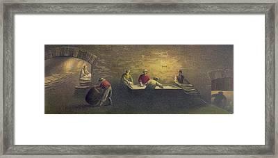 Pork Packing House In Cincinnati, Ohio Framed Print by Everett