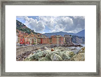 Port Of Camogli Framed Print by Joana Kruse