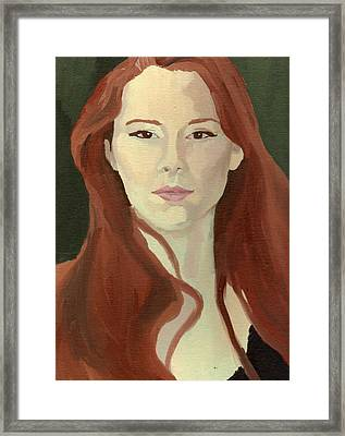 Framed Print featuring the painting Portrait by Stephen Panoushek
