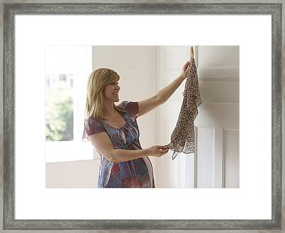 Pregnant Woman Framed Print by Ruth Jenkinson