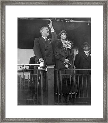 President-elect Franklin Roosevelt Framed Print by Everett