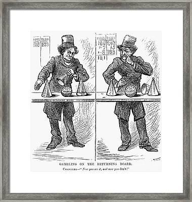 Presidential Campaign, 1876 Framed Print