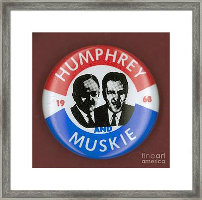 Presidential Campaign, 1968 Framed Print