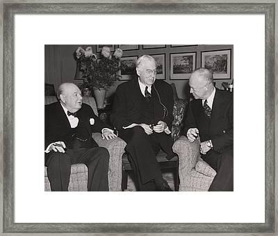Prime Minister Winston Churchill Framed Print by Everett