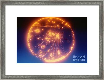 Proton-photon Collision Framed Print by Omikron