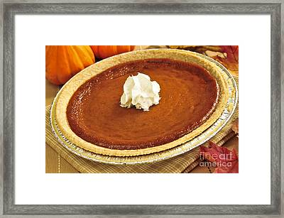 Pumpkin Pie Framed Print