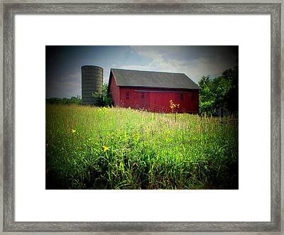 Red Barn Framed Print by Michael L Kimble
