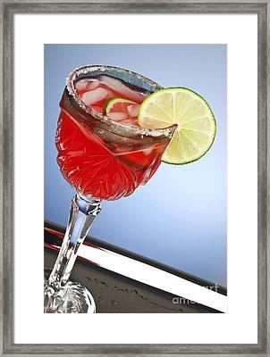 Red Cocktail Drink Framed Print by Blink Images