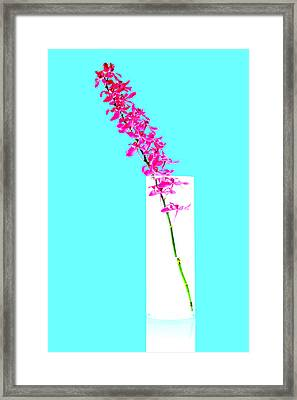 Red Orchid Bunch Framed Print