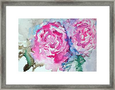 Red Roses Framed Print by Raymond Doward