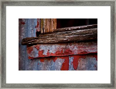 Red Shed Series Framed Print