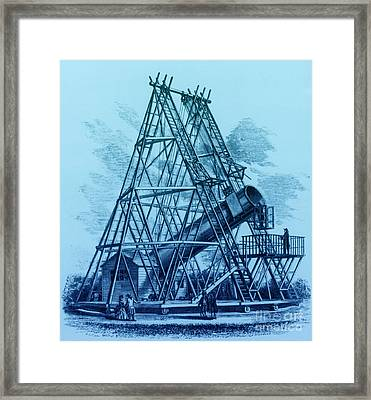 Reflecting Telescope, 1789 Framed Print by Science Source