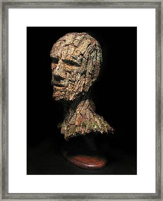 Revered  A Natural Portrait Bust Sculpture By Adam Long Framed Print