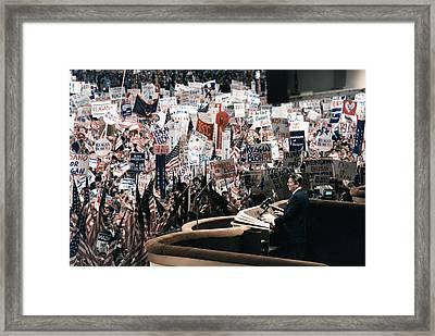 Ronald Reagan. President Reagan Giving Framed Print