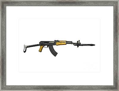 Russian Ak-47 Assault Rifle Framed Print by Andrew Chittock
