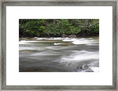 Sainte-anne River, Quebec Framed Print by Ted Kinsman