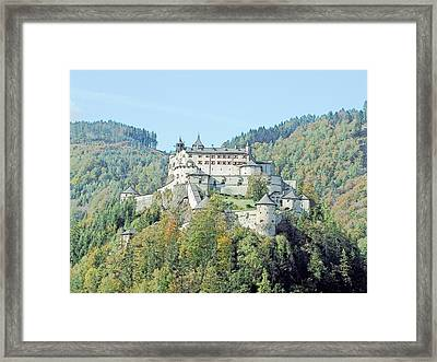 Schloss Hohenwerfen Werfen Austria  Framed Print by Joseph Hendrix