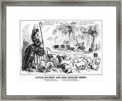Secession Cartoon, 1861 Framed Print