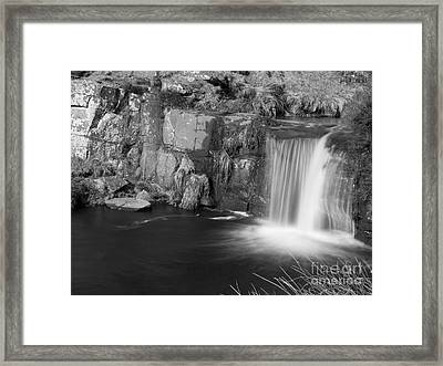 3 Shires Head Waterfall Framed Print by Steev Stamford