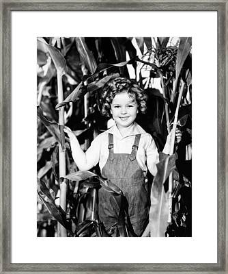 Shirley Temple (1928- ) Framed Print by Granger