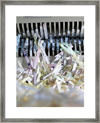 Shredded Paper Framed Print by Tek Image