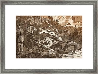 Siege Of Vicksburg, 1863 Framed Print by Photo Researchers