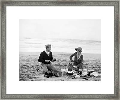Silent Film Still: Picnic Framed Print by Granger