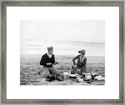 Silent Film Still: Picnic Framed Print by Granger