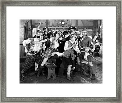 Silent Film Still: Pirates Framed Print by Granger