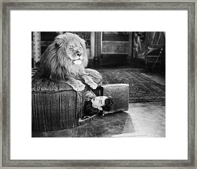 Silent Still: Man In Distress Framed Print by Granger