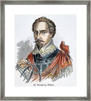 Sir Humphrey Gilbert Framed Print