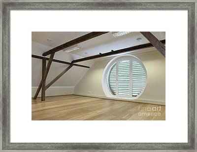 Spacious Conference Room Framed Print