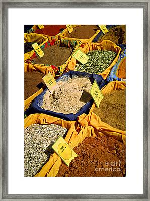 Spices On The Market Framed Print