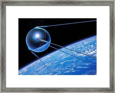 Sputnik 1 Satellite Framed Print