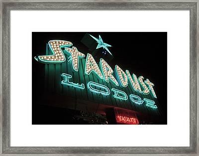 Stardust Hotel Framed Print