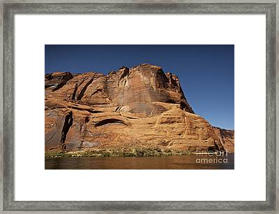 Steep Cliffs Guard The Colorado River Framed Print by Terry Moore