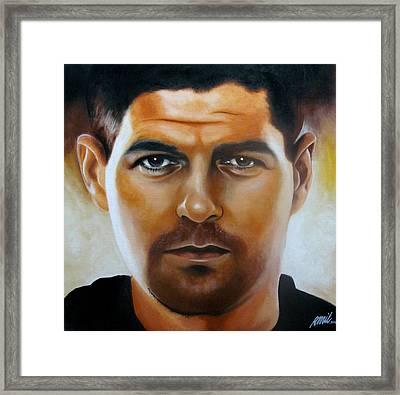 Steven Gerrard Painting Framed Print by Ramil Roscom Guerra